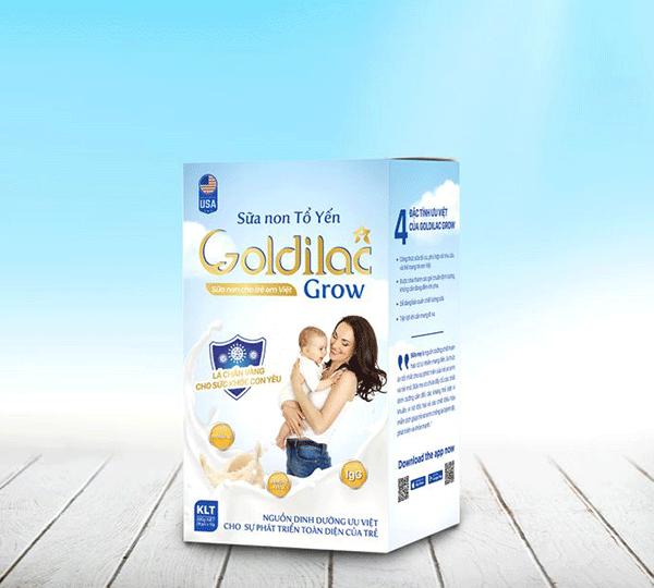 Sữa non tổ yến GOLDILAC GROW có tốt không, mua ở đâu, giá bao nhiêu?